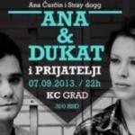 Ana Ćurčin i Dukat (Stray Dogg) u bašti KC - Ana Ćurčin i Dukat (Stray Dogg) u bašti KC