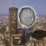 Asteroid u komšiluku - Asteroid u poređenju sa palatom Beograđanka