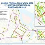 Beogradski maraton - rezim saobracaja -
