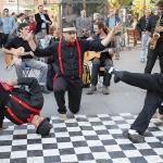Ulični plesači iz regiona 7. februara u Beogradu -