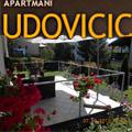Apartmani Udovicic, u ponudi su dva Apartmana koji se sastoje od: predulaza, dnevne sobe, spavace sobe, kuhinje sa trpezarijom, kupatilom i zasebnom terasom