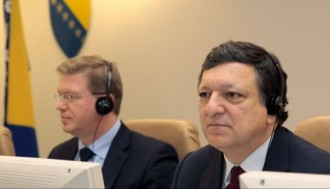 BAROSO I ŠTEFAN FILE STIŽU U BEOGRAD -