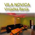 Vila Novica se nalazi u tihom delu Vrnjačke Banje na 150 m od zgrade opštinske uprave. Raspolaže sa dva prostrna apartmana od po 60 m2 (dnevni boravak + dve spavaće sobe) u kojima je moguće ugostiti i do 8 osoba
